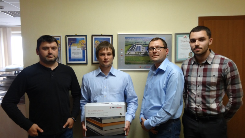 Больше ЛМК в России www.steelbuildings.ru Недавно в Киеве мы посетили украинский офис BALEXMETAL (www.BALEX.eu), Генеральным Директором которого является Мурин Александр Николаевич (на фото слева):